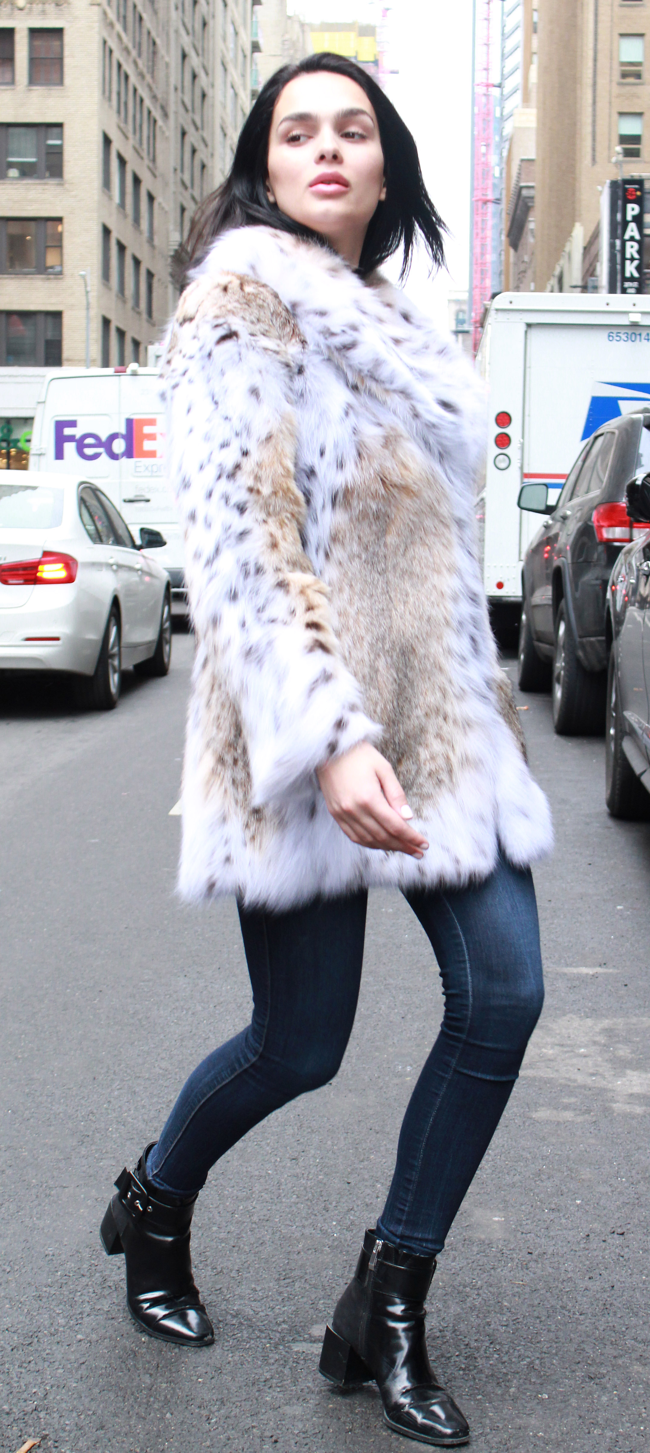 American Cat Lynx Fur Jacket