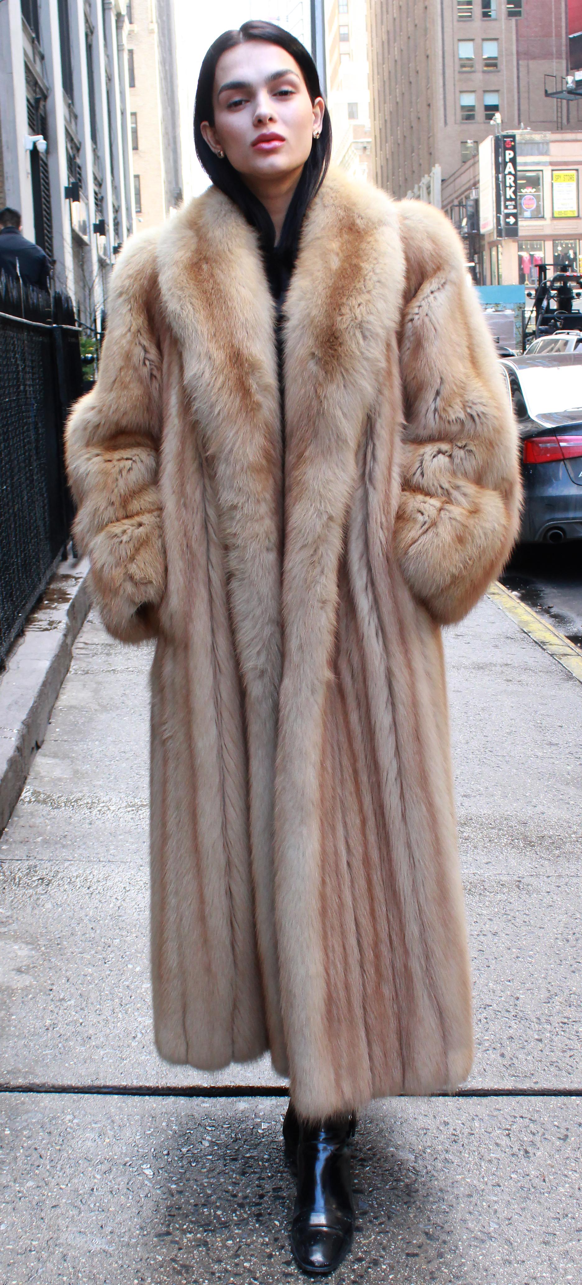 Golden Sable Fur Coat 21902 Marc Kaufman Furs