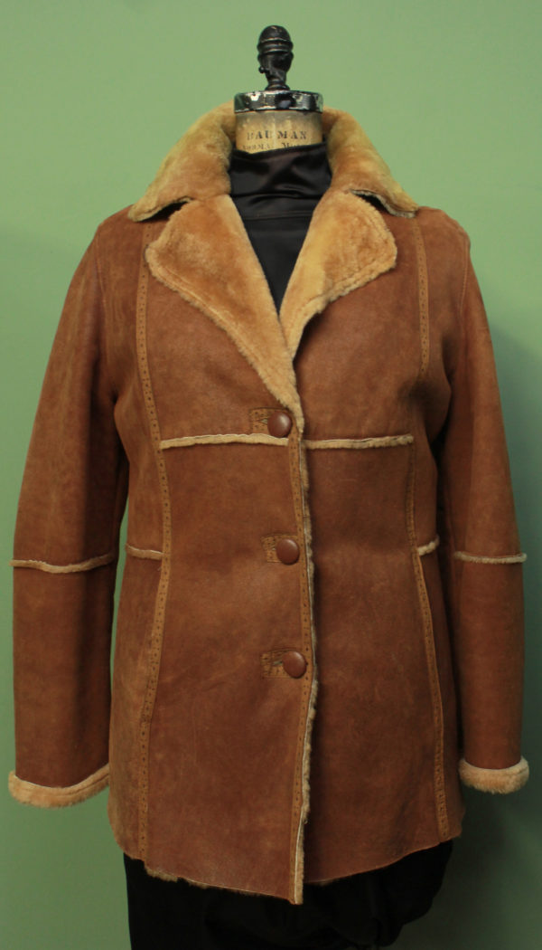 Burnt Orange Shearling Jacket