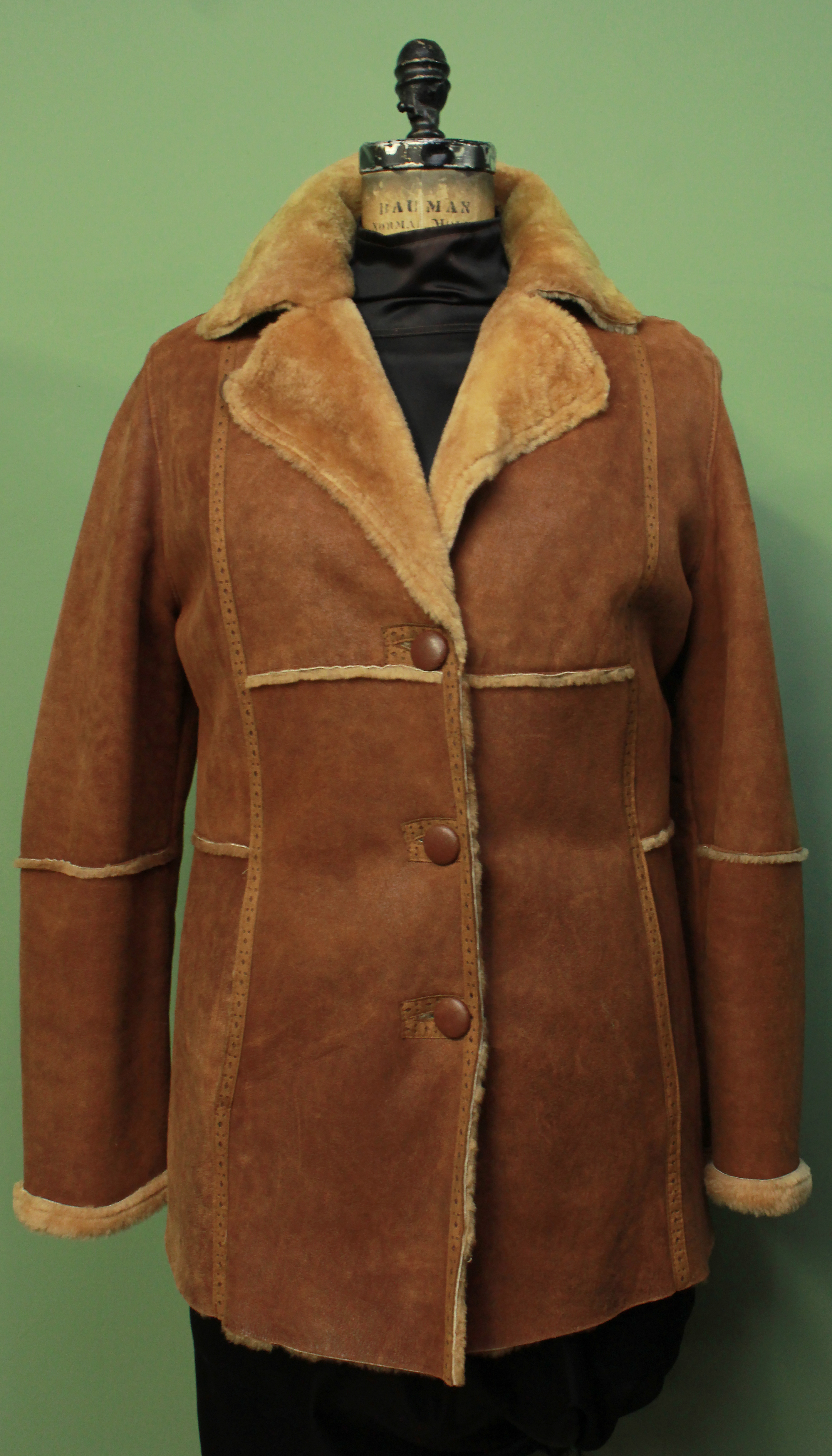 Burnt Orange Shearling Jacket