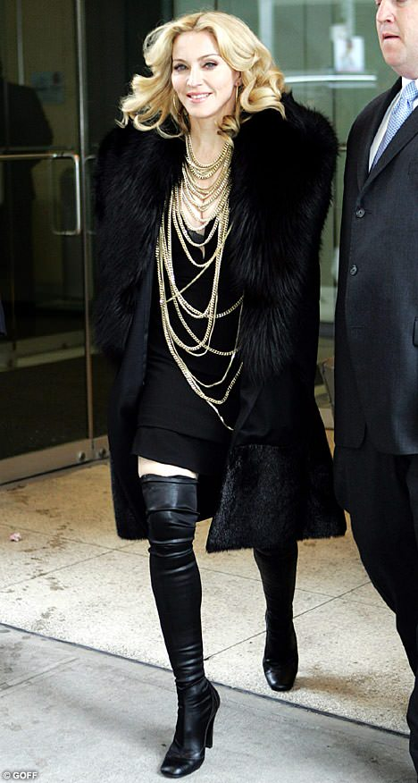 Madonna Fur Coat Fashion Marc Kaufman Furs