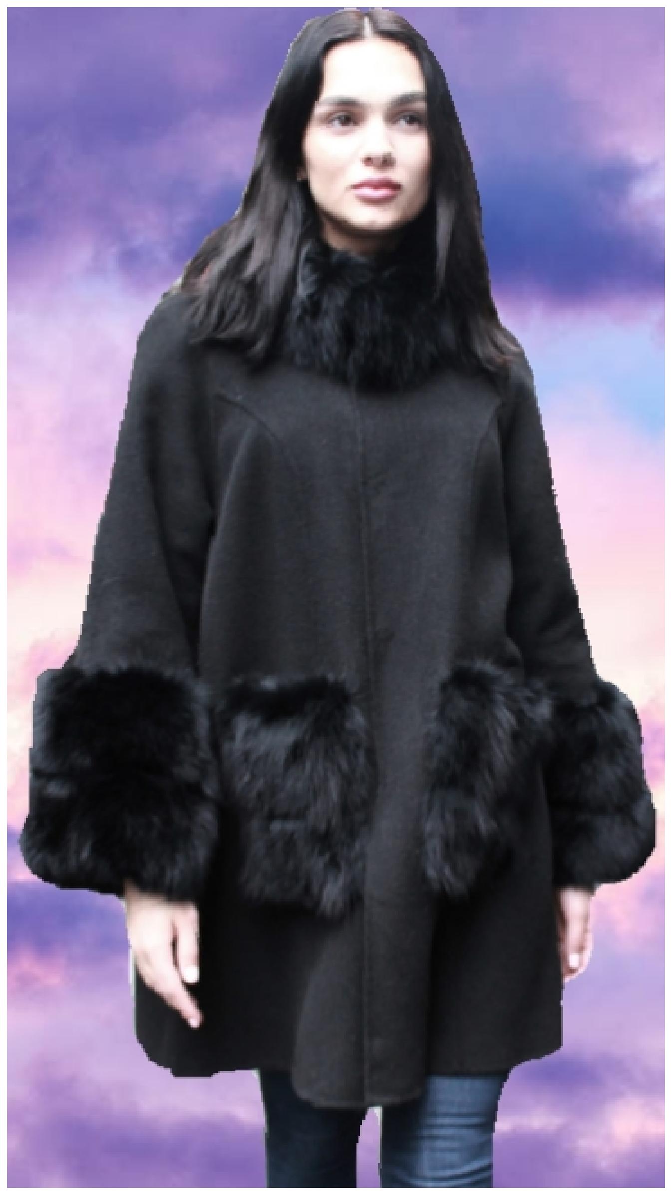 fox fur stroller