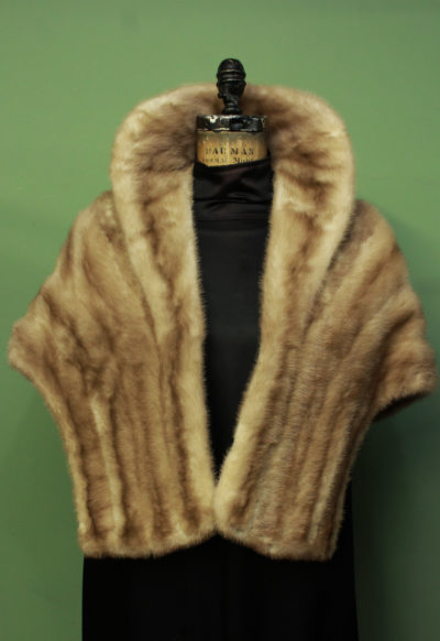Tan Mink Fur Cape