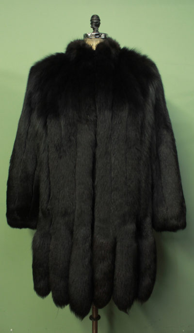 Black Fox Fur Jacket Tails