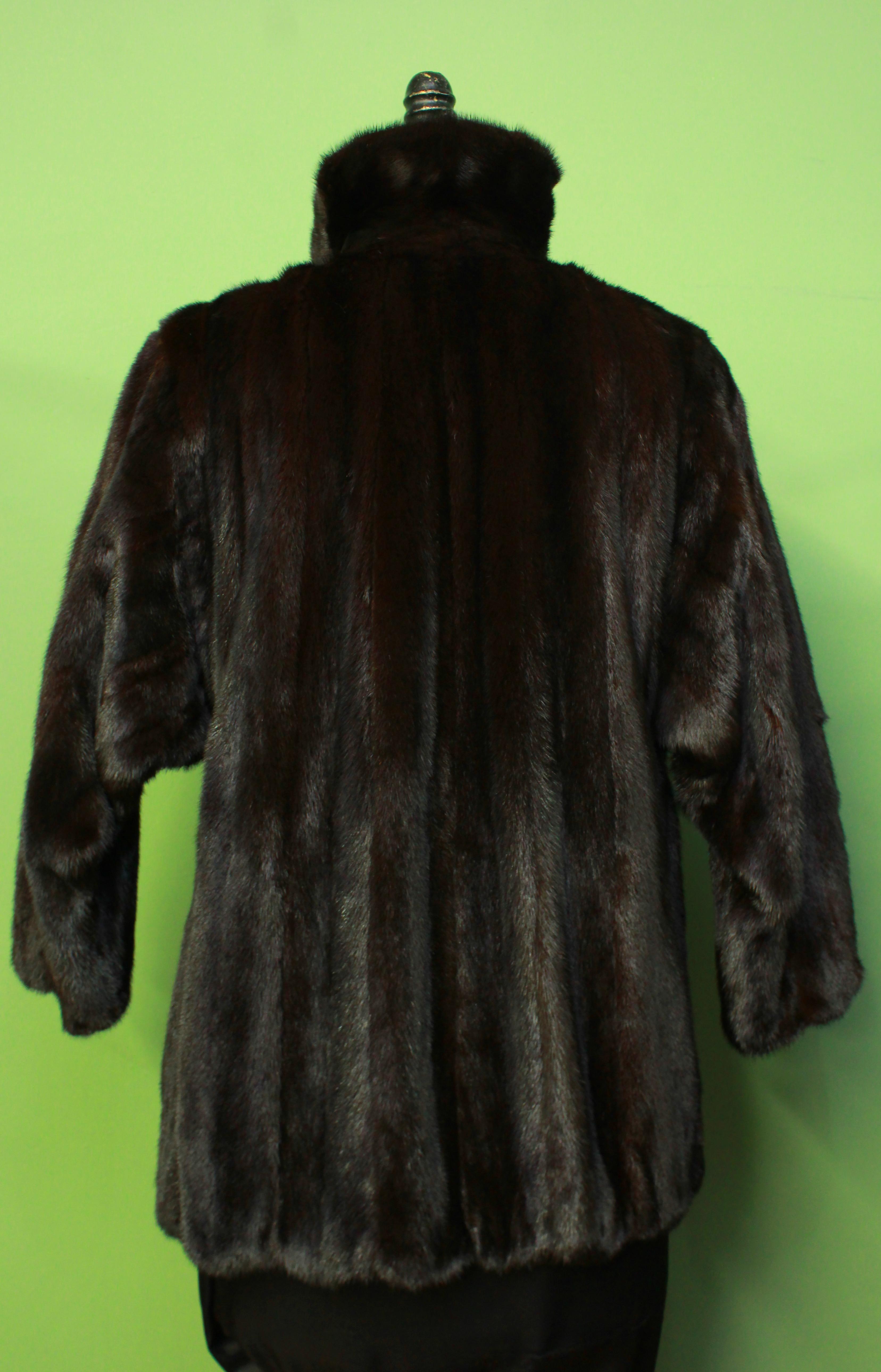 Mens Mahogany Mink Fur Jacket
