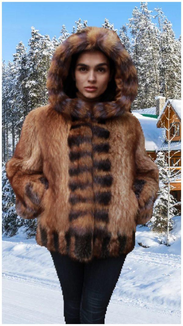 raccoon fur vest