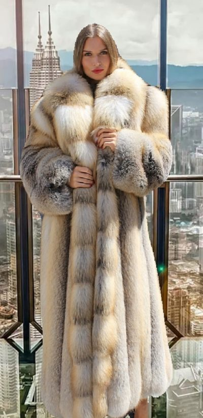 Golden Island Fox Coat Jennifer Lopez Hustler Movie