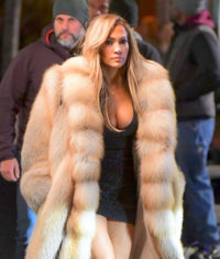 JLO Jennifer Lopez Rocks Fur Coat Hustler Movie