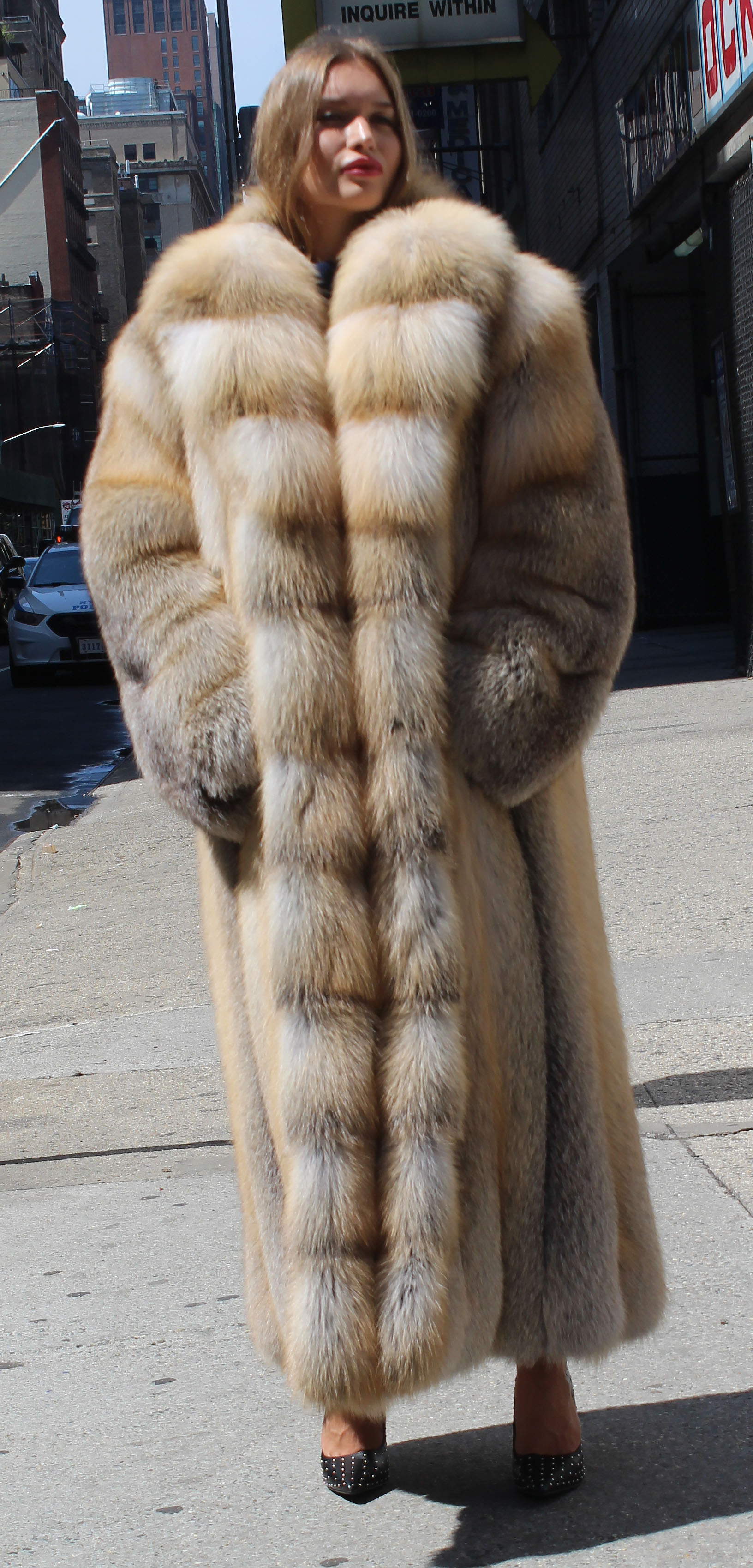 Full Length Golden Isle Fox Fur Coat