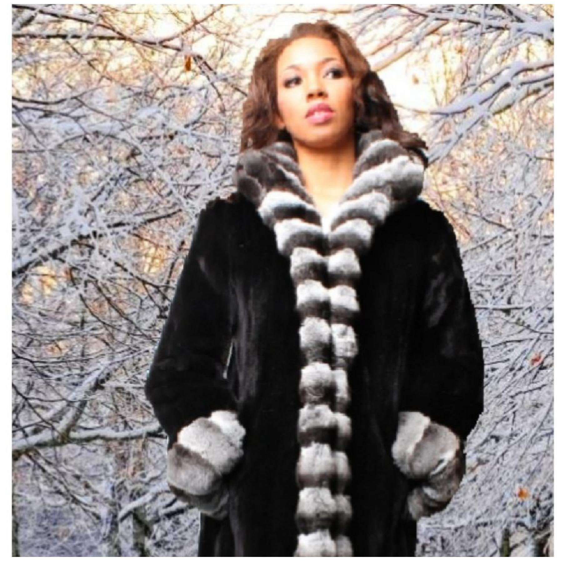 sheared mink fur vest