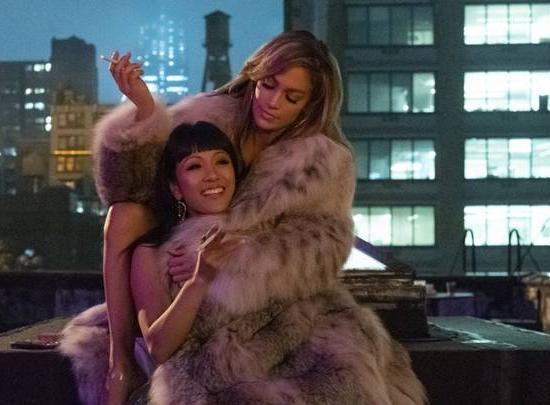 JLo Lynx Coat Constance Wu in Hustlers Movie