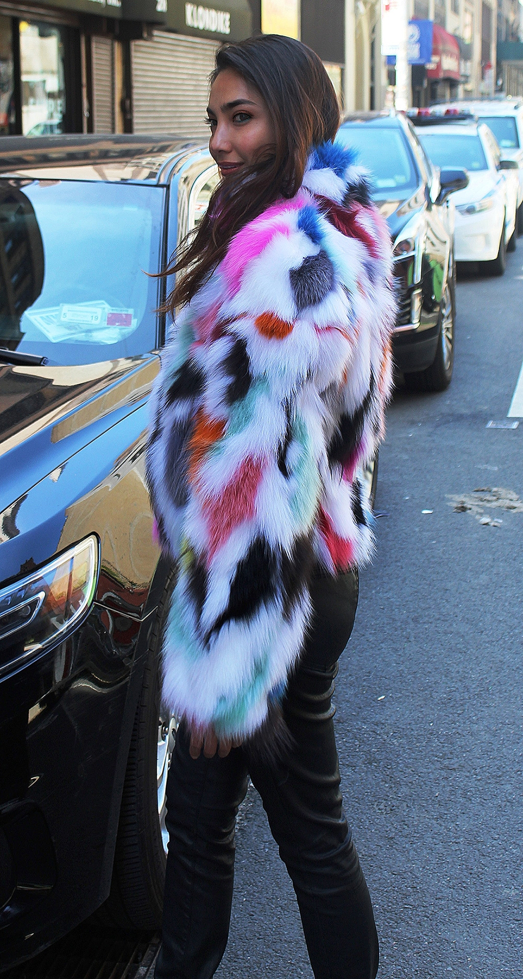 Share Multi Colored Fox Jacket