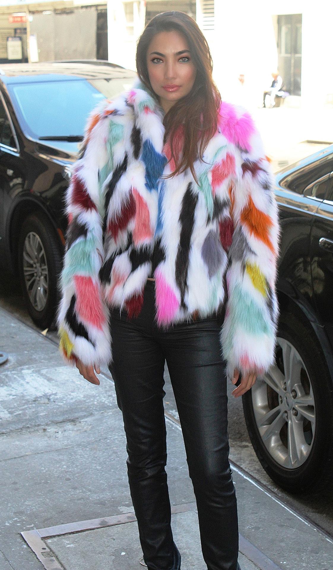 Share Multi Colored Fox Jacket
