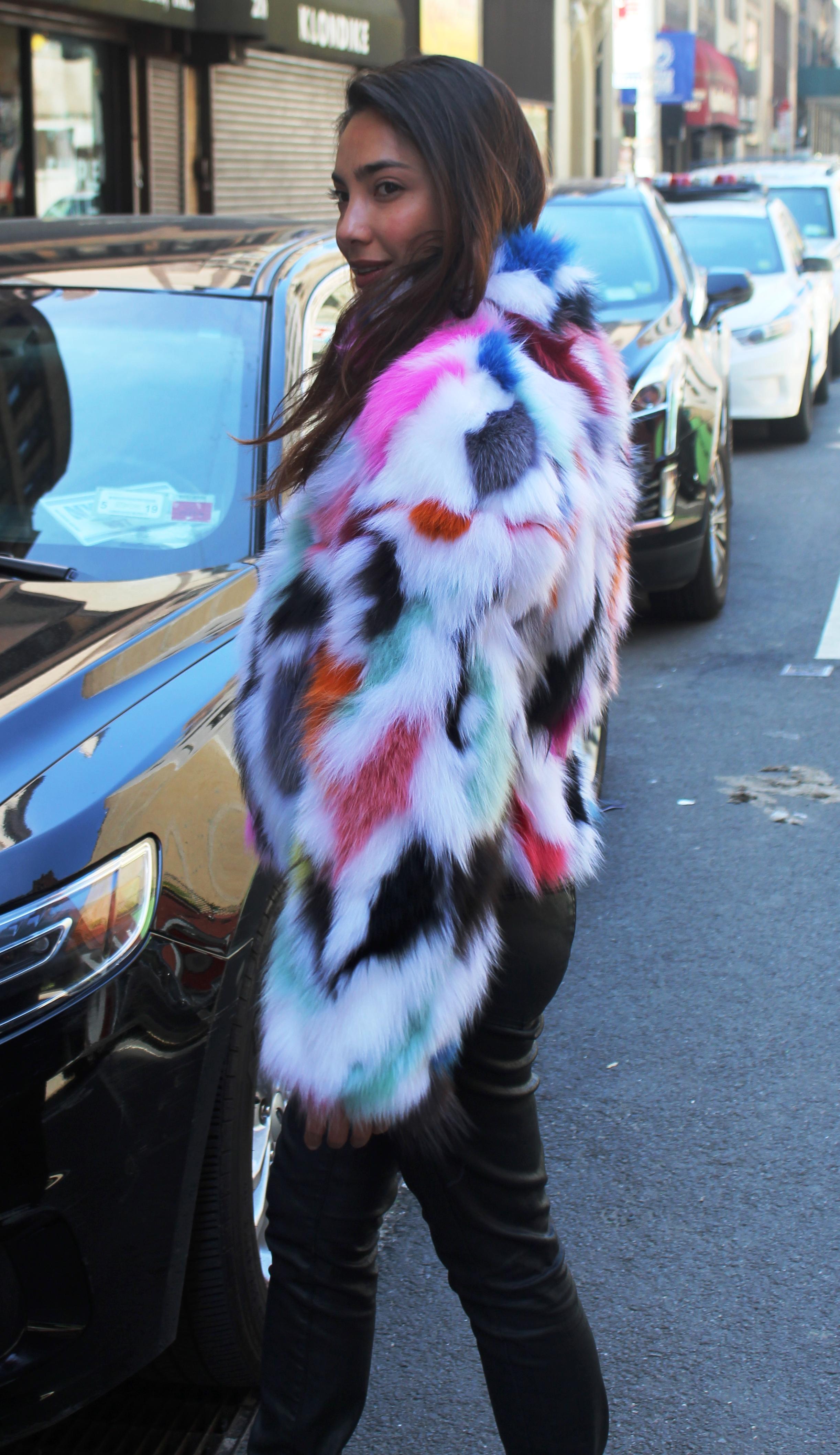 Candy Fox Fur Jacket