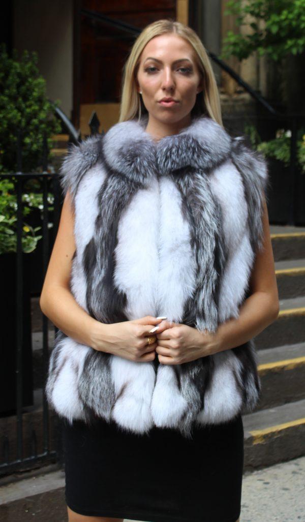 Silver Fox Fur Vest