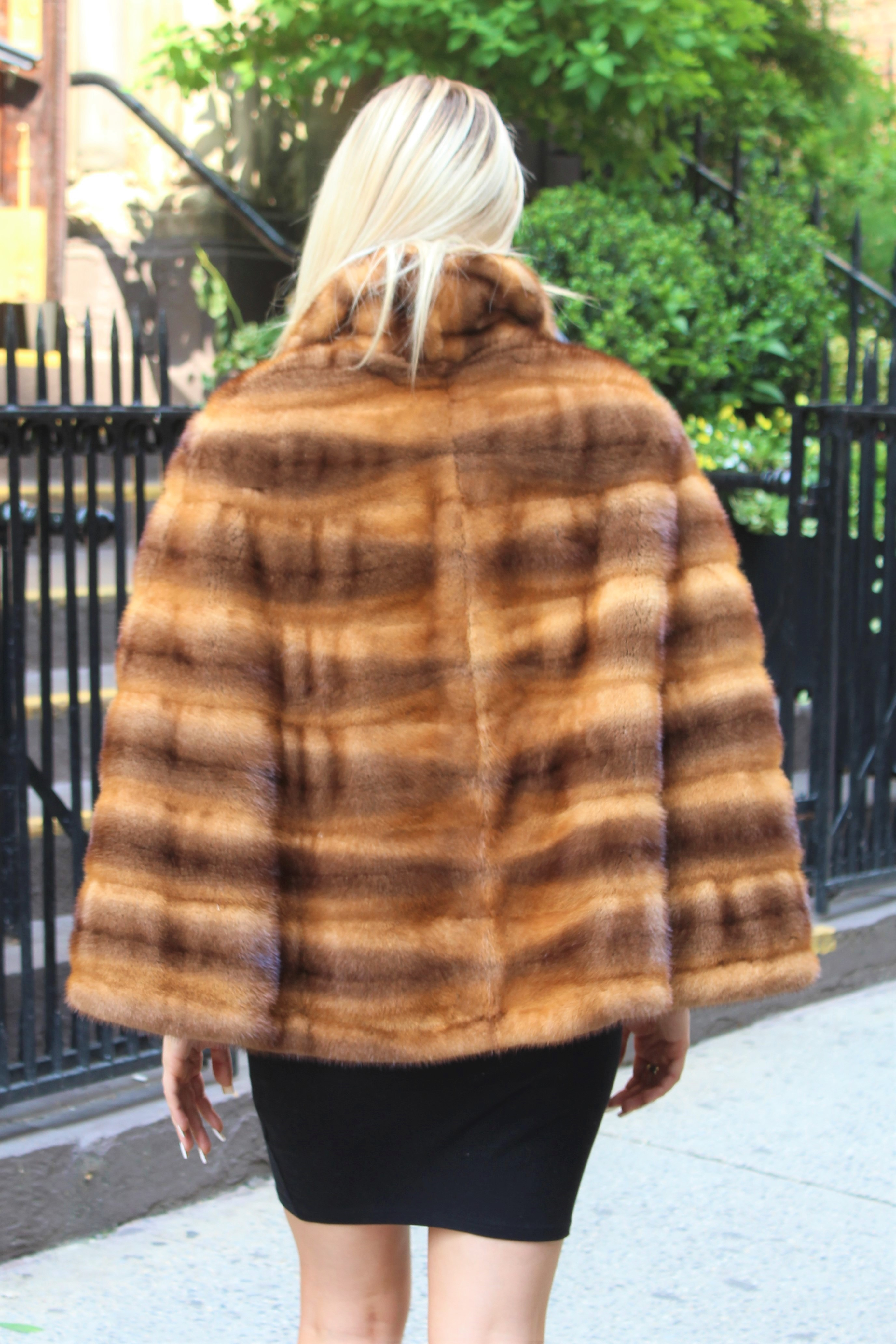 Whiskey Cross Mink Cape