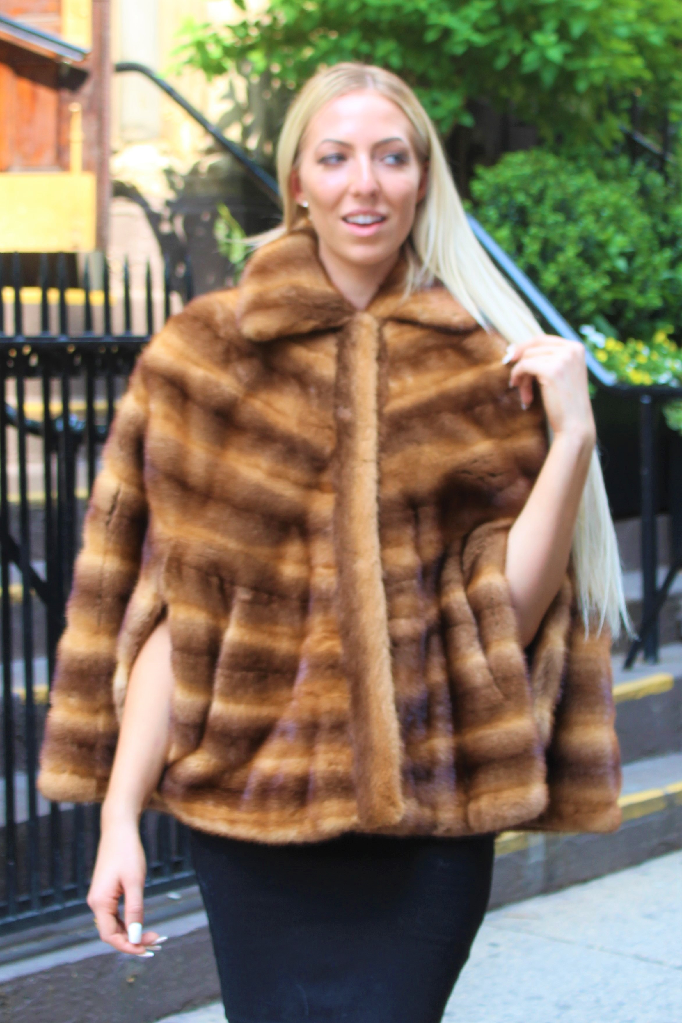 Whiskey Mink Cape