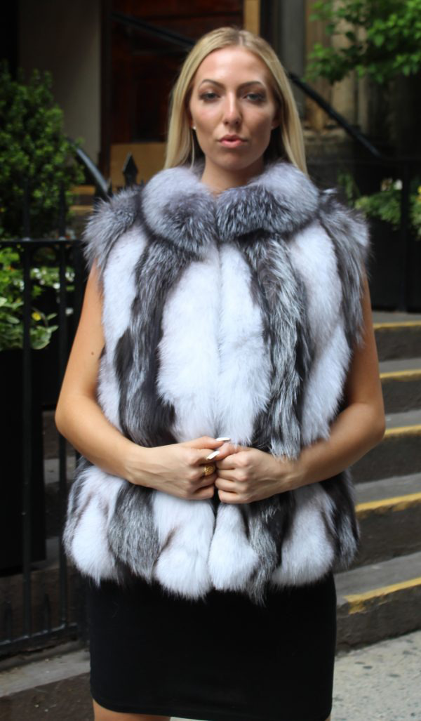 Silver fox section vest