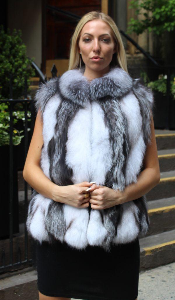Silver fox section vest