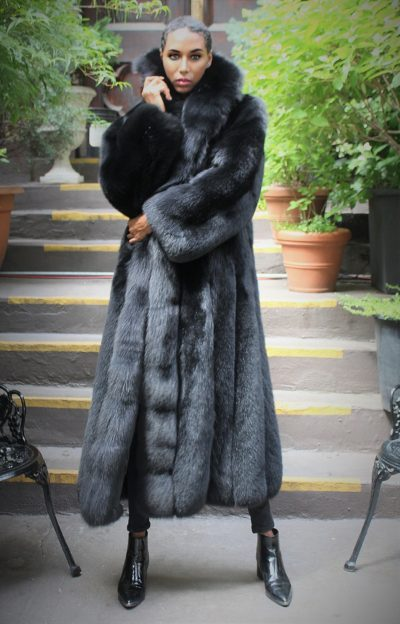 Black Fox Coat Full Length