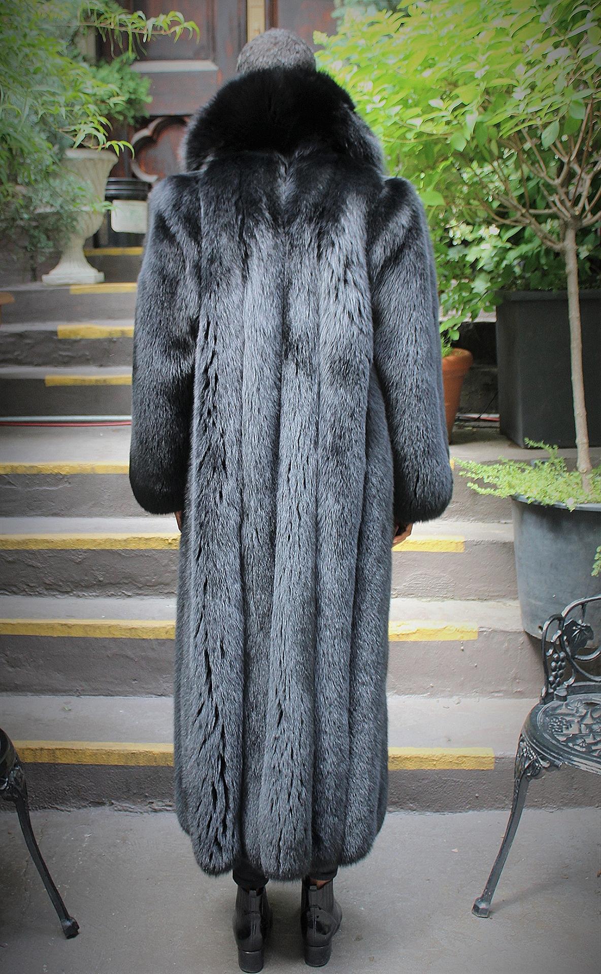 Black Fox Coat Full Length