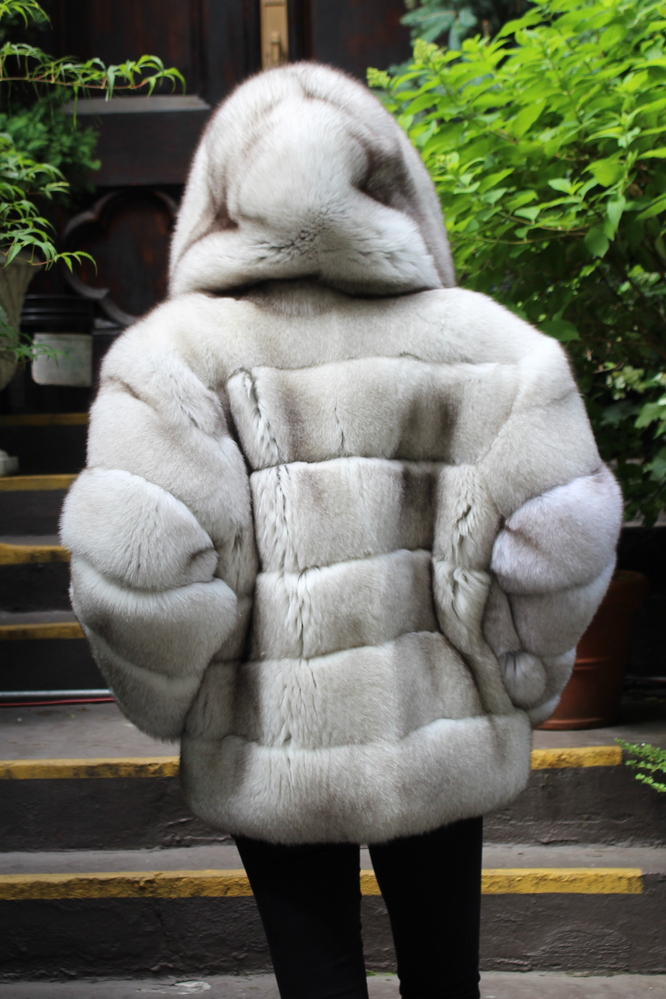 Blue Fox Jacket Hood Horizontal