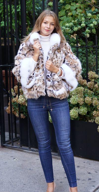 Lynx Jacket White Fox Trim