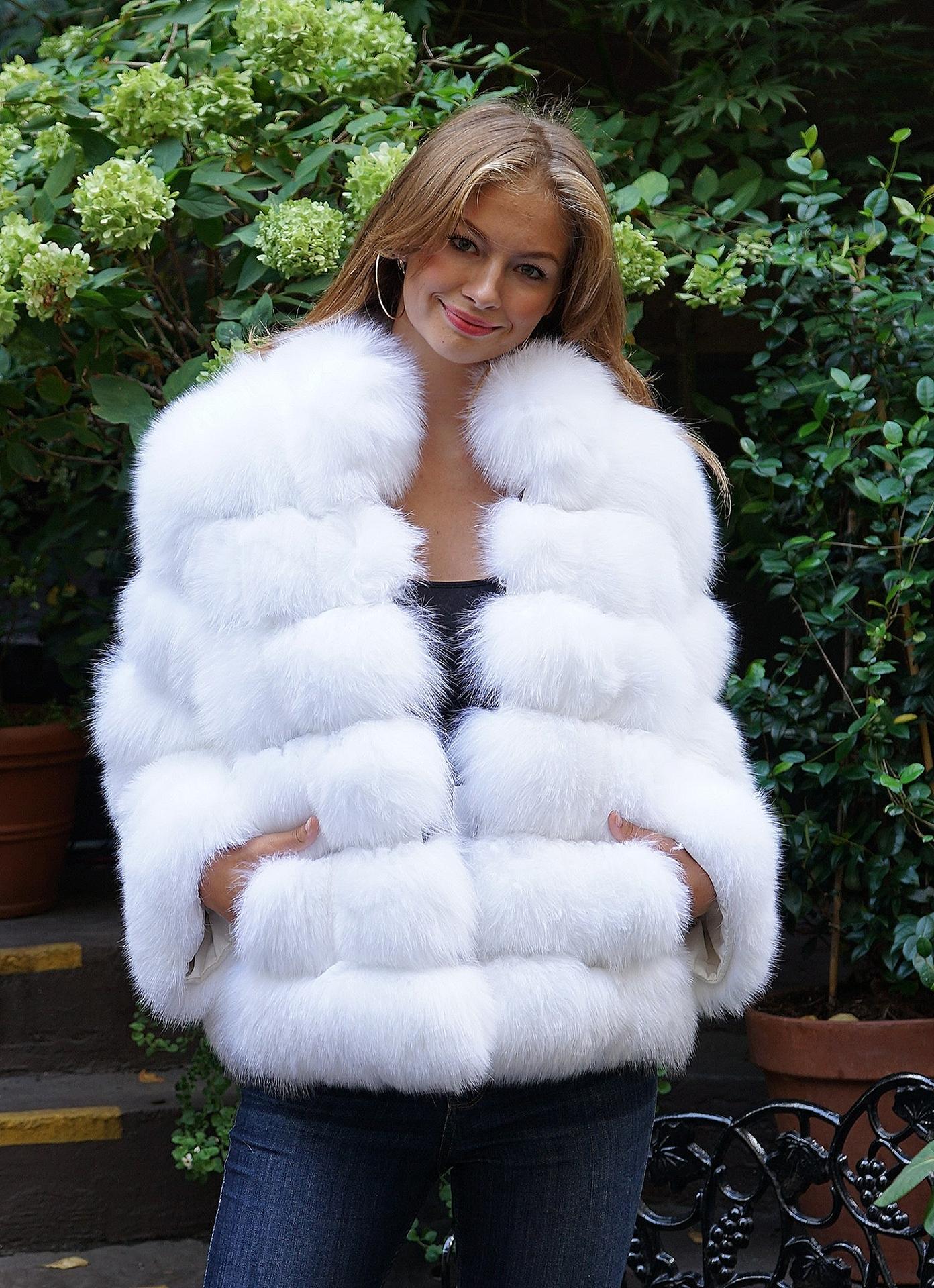 white fur jackets
