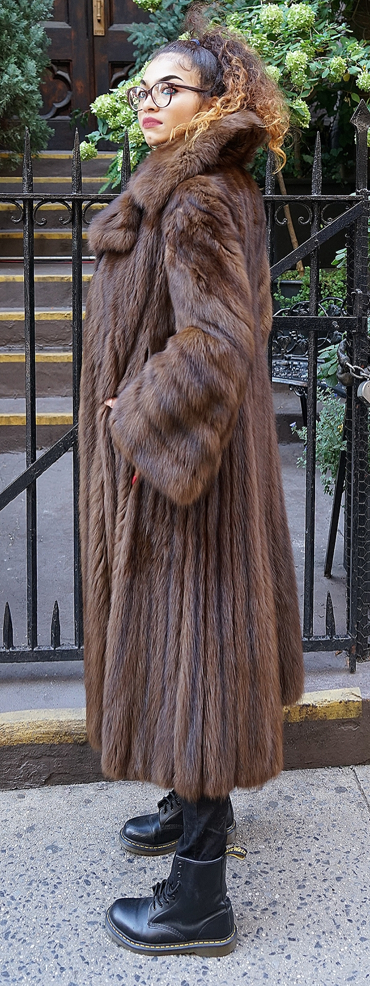 Classic Russian Sable Coat Size