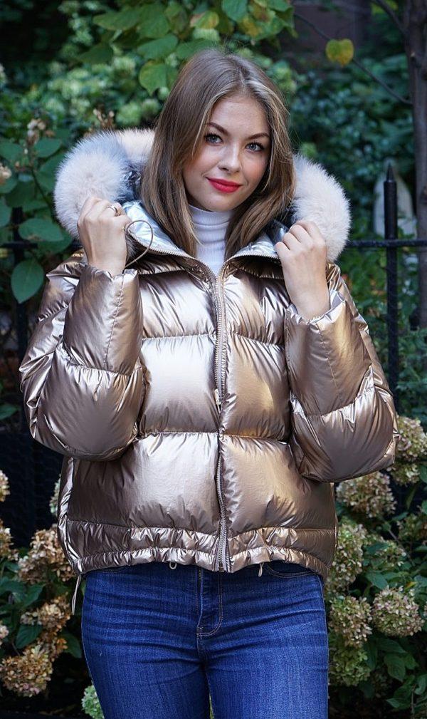 gold jacket fox trim
