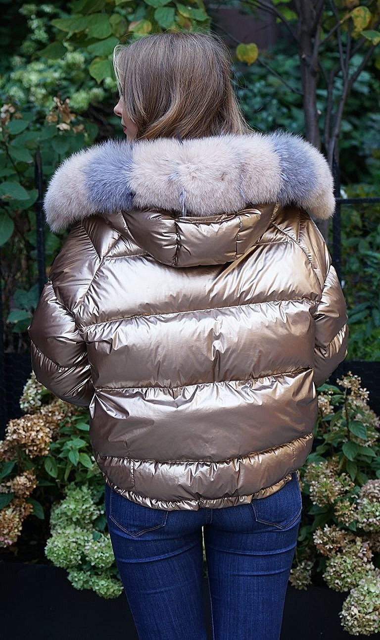 Gold fox fur jacket