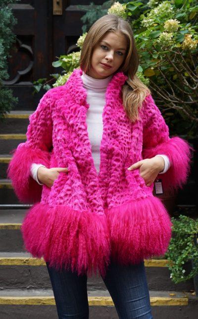 Hot Pink Rex Lamb Rabbit Jacket