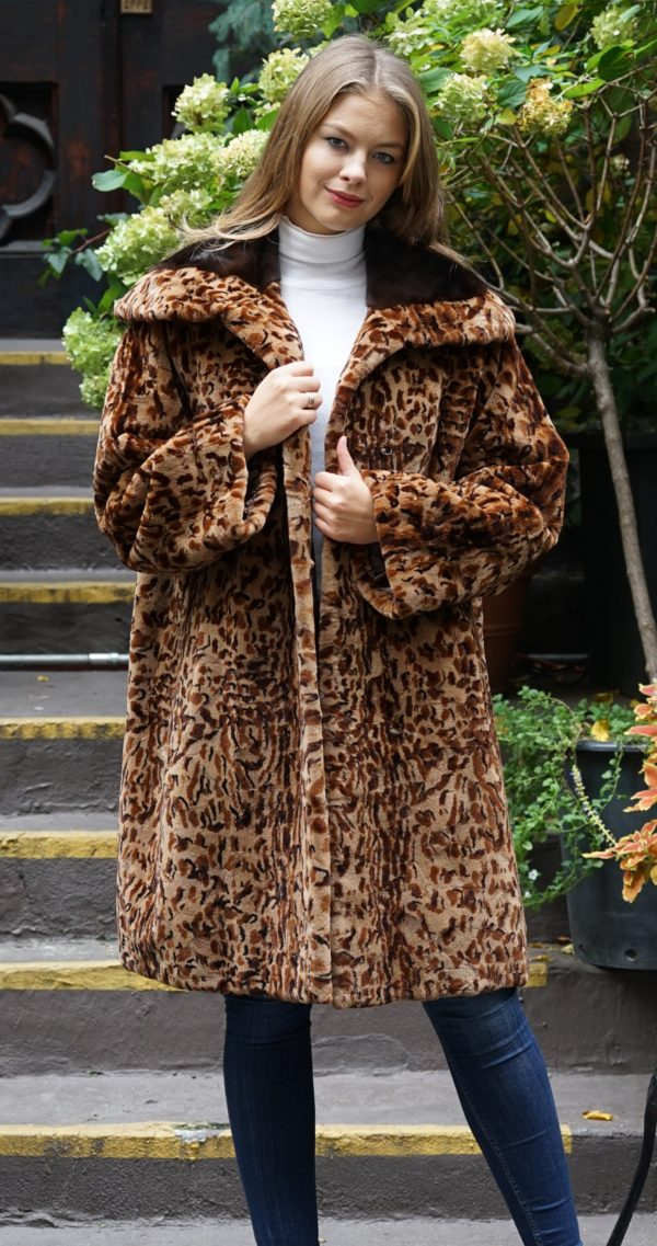 Mint Leopard Mink Stroller Mahogany Mink Collar