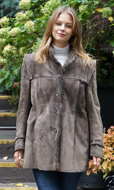 Shearling Jacket Nutria Lined