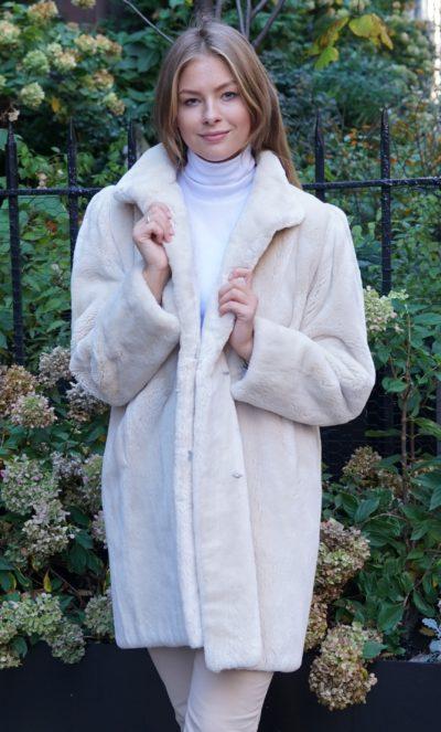 Ivory Sheared Beaver Stroller