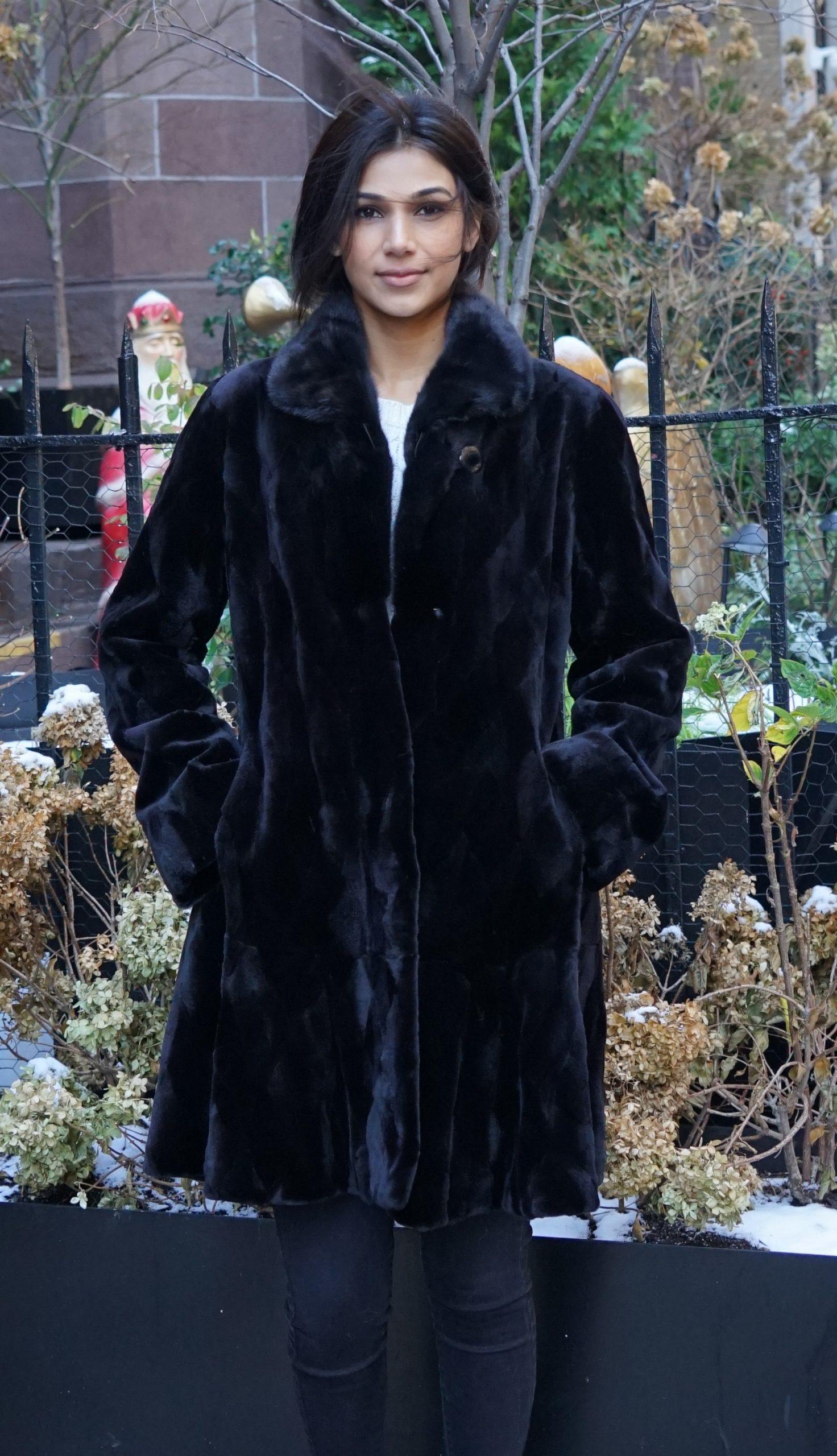 Black Sheared Mink Stroller Section