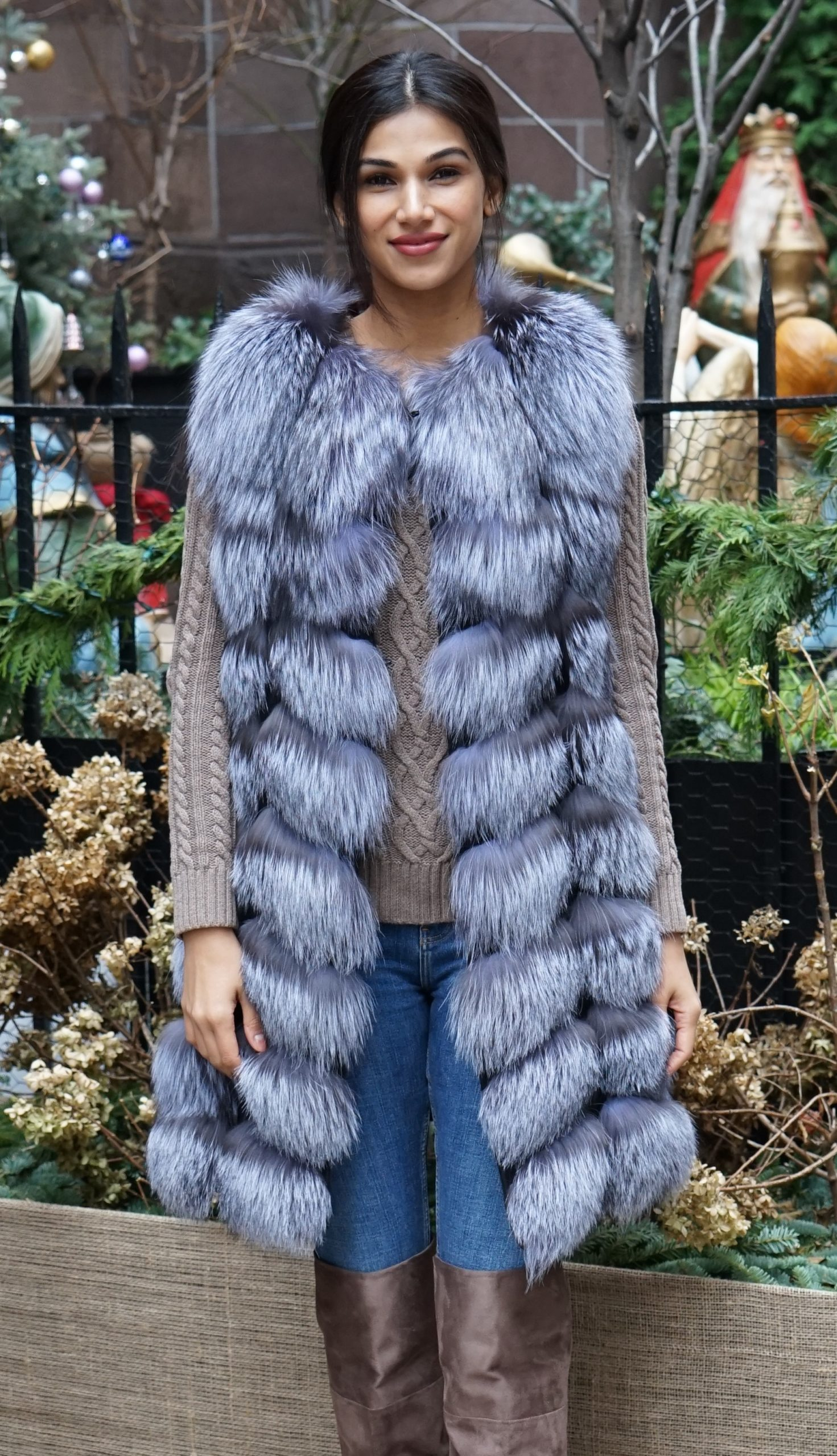 Canadian Silver Fox Fur Vest