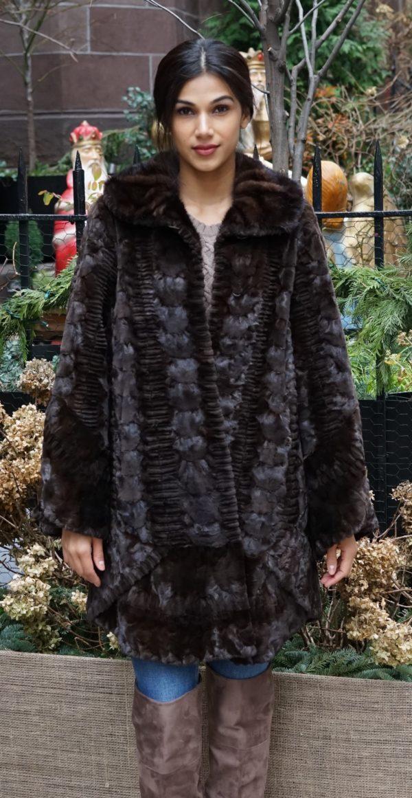 Mahogany Sheared Mink Stroller
