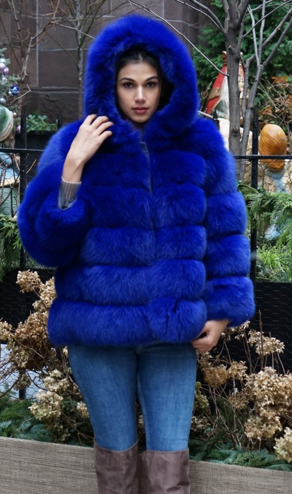 Royal Blue Fox Jacket