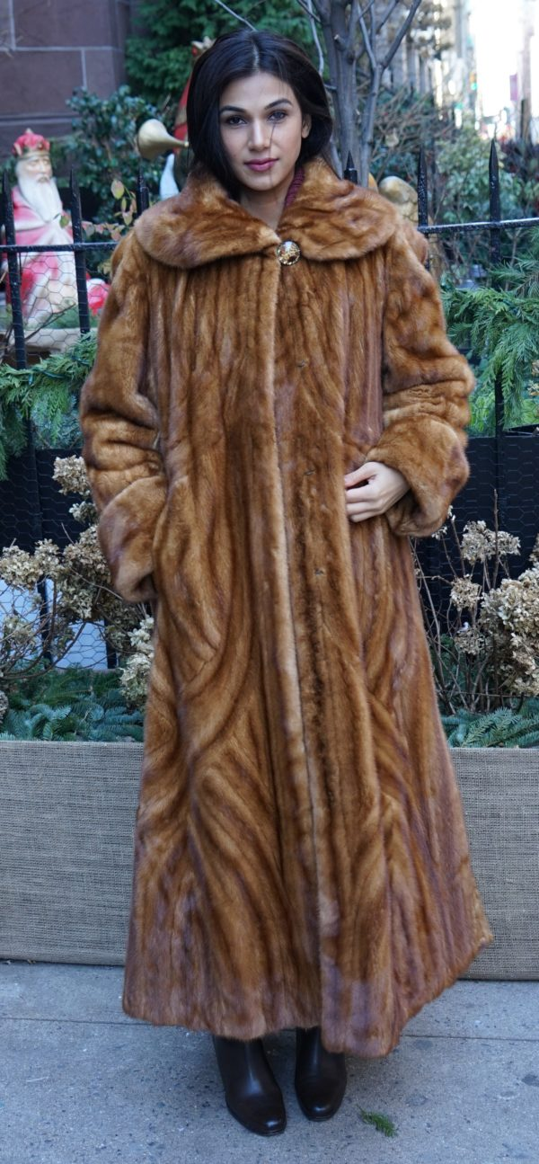 Whiskey Mink Coat Directional