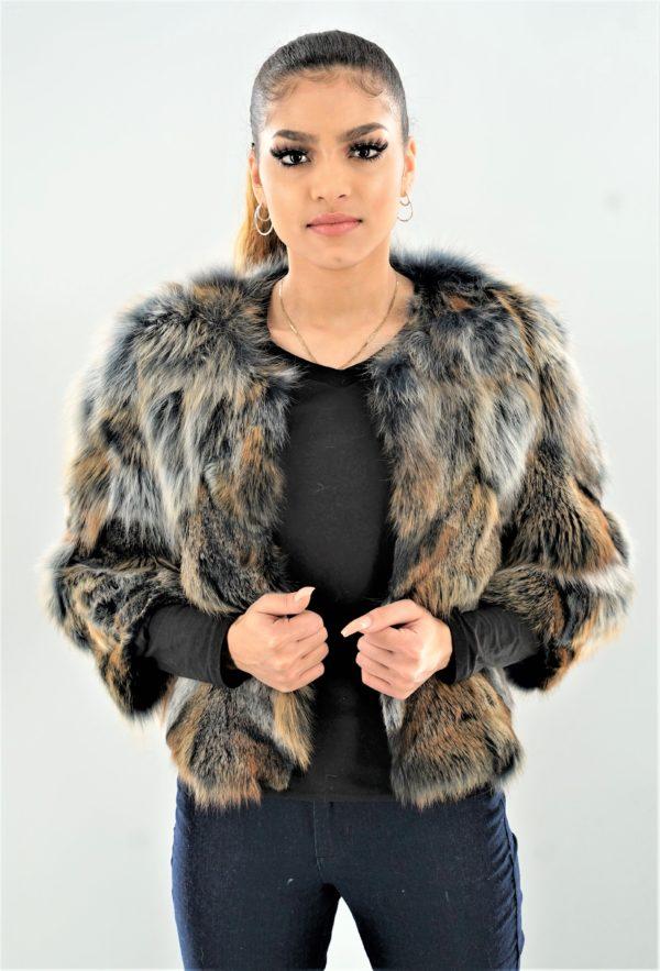 Multi Colored Fox Jacket