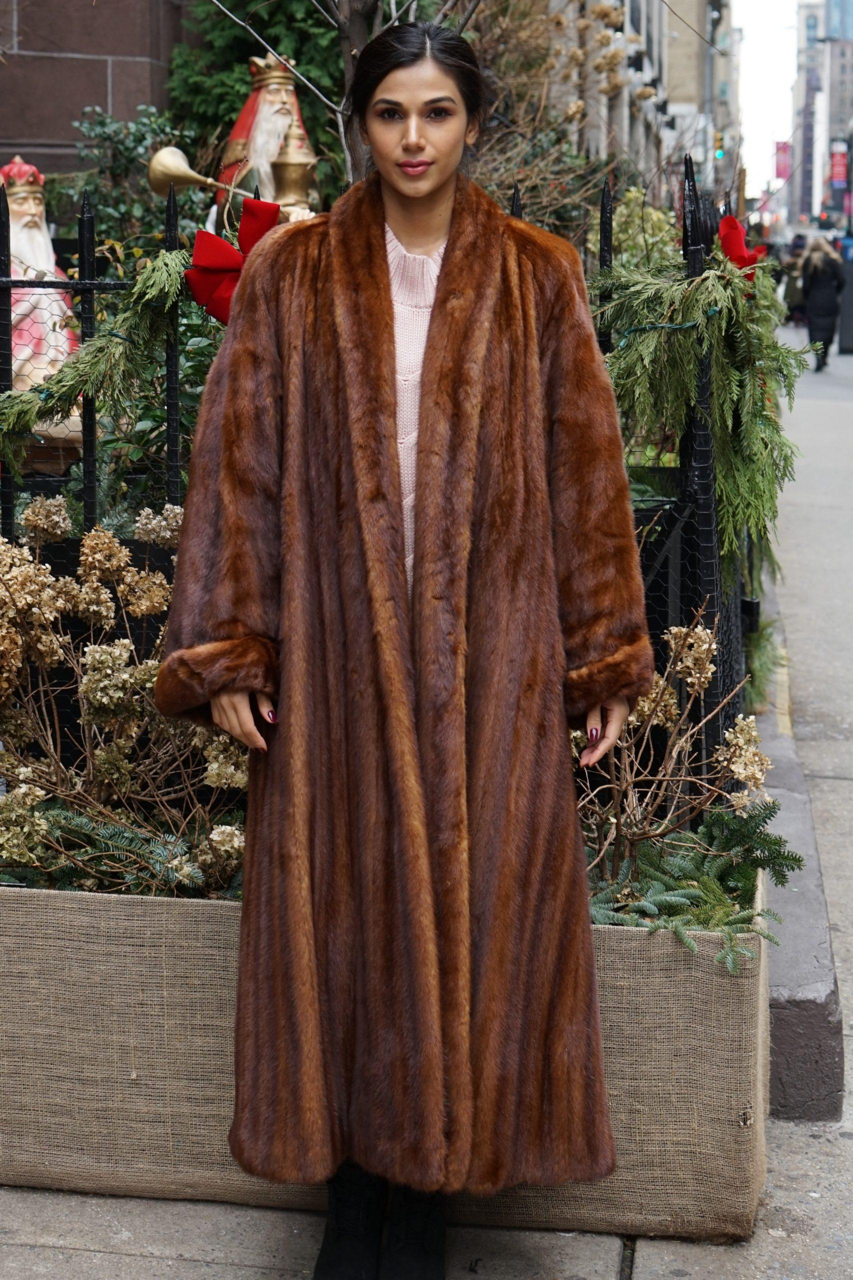 Cognac Mink Coat