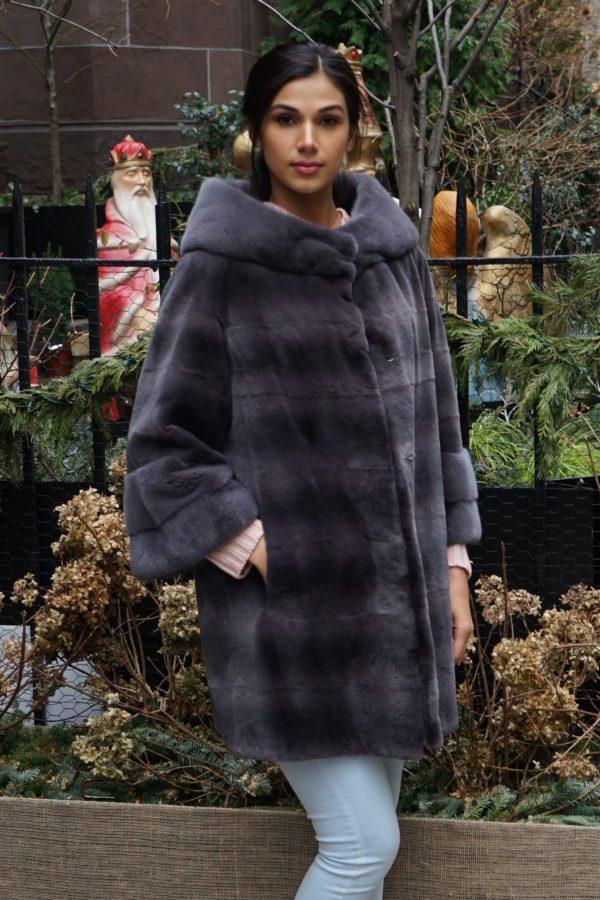 Gray Sheared Mink Stroller