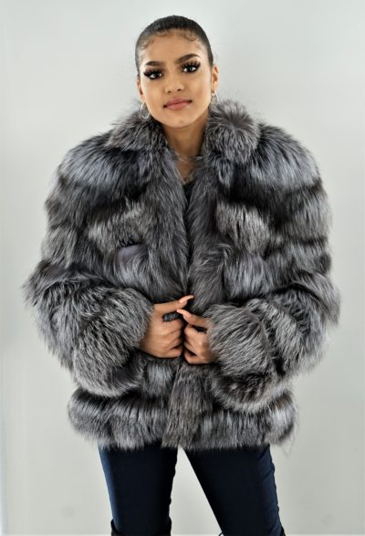 Horizontal Silver Fox Jacket