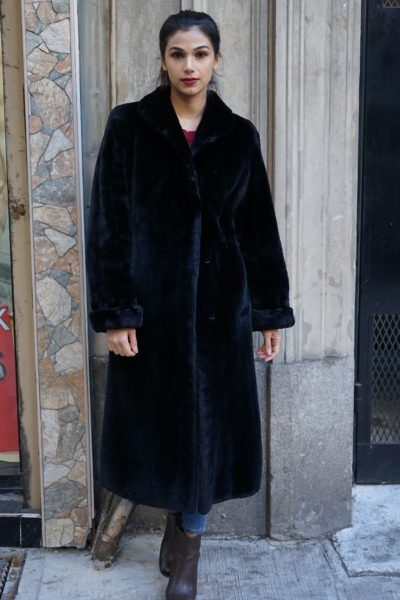 Black Sheared Beaver Coat
