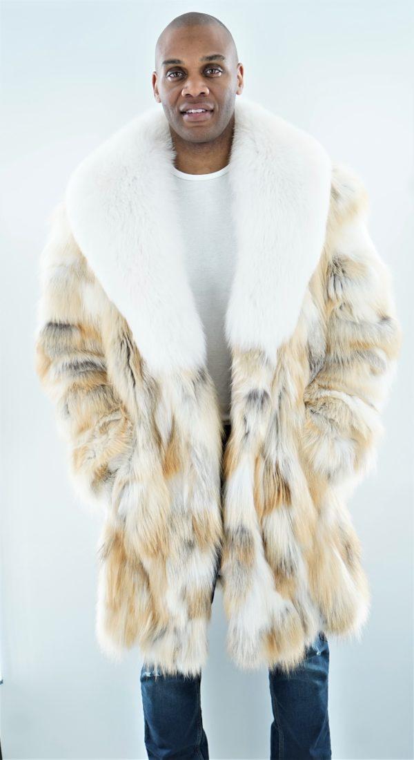 Men's Golden Fox Stroller White Fox Collar