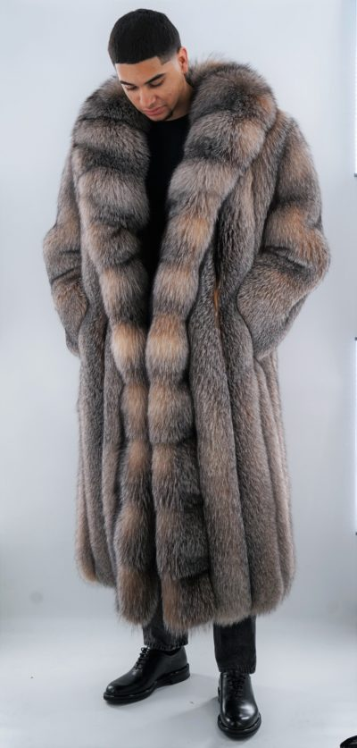 Men's Crystal Fox Coat