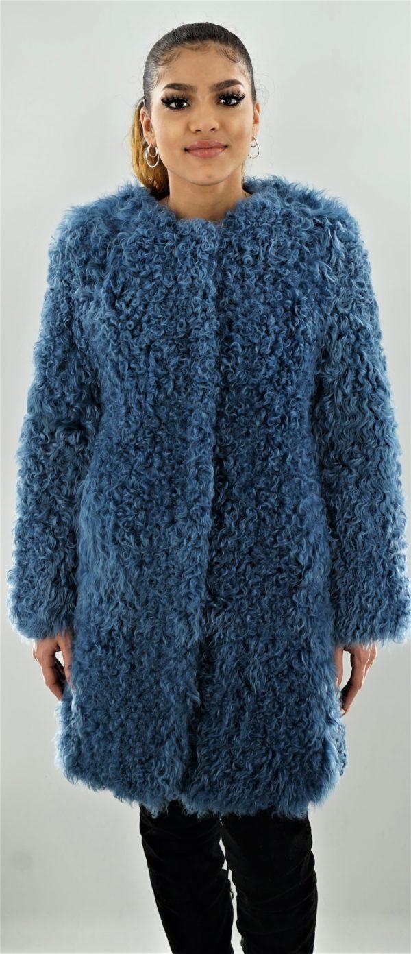 Blue Curly Lamb Stroller