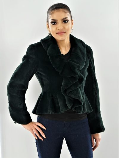 Green Rabbit Ruffled Jacket