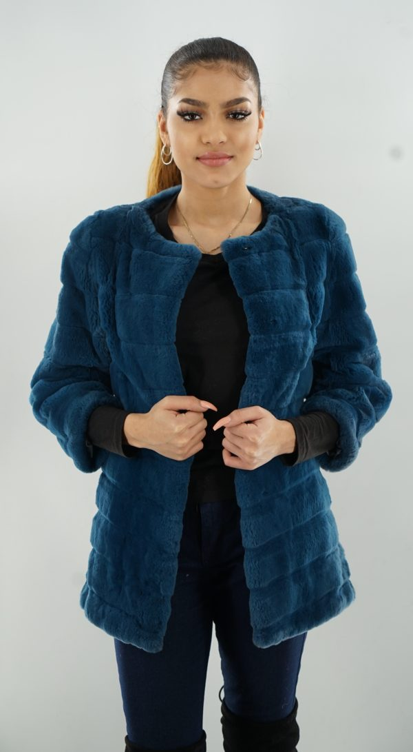 Blue Rex Rabbit Jacket Size